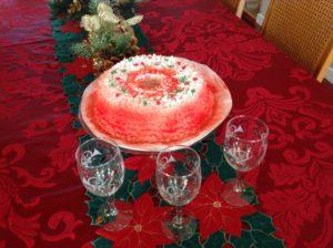 Decorated Jamaican Christmas cake