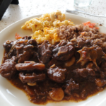 Jamaican Oxtail served for dinner
