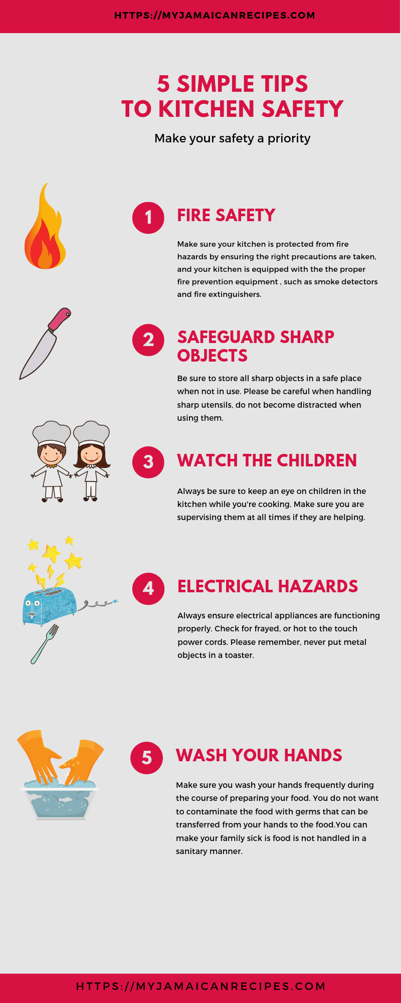 Tips to Kitchen Safety